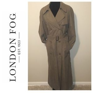 London Fog Double Breast Classic Trench Coat